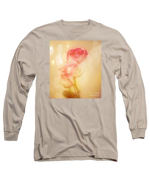 Autumn Roses Long Sleeve T-Shirt by Shirley Mangini