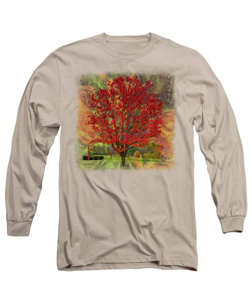 Autumn Scenic 2 Long Sleeve T-Shirt by John M Bailey