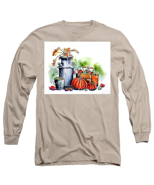 Long Sleeve T-Shirt featuring the painting Autumn Still Life 1 by Terry Banderas