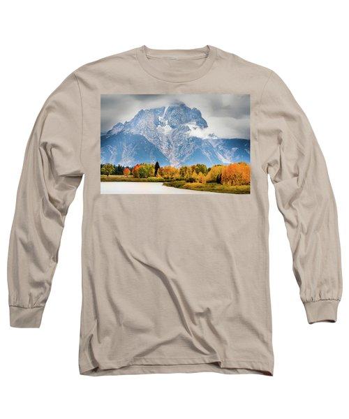 Autumn Storm Over Mount Moran Long Sleeve T-Shirt