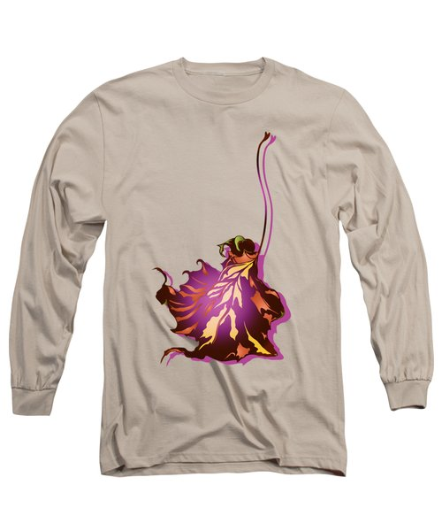 Autumn Sycamore Leaf Long Sleeve T-Shirt