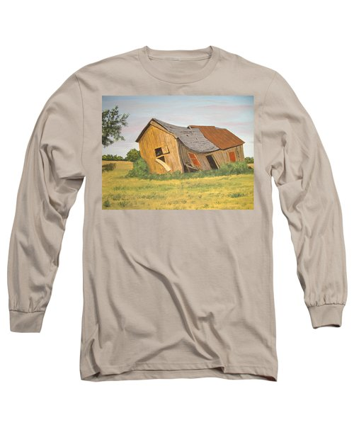 Long Sleeve T-Shirt featuring the painting Award-winning Original Acrylic Painting - Now I Lay Me Down To Sleep by Norm Starks