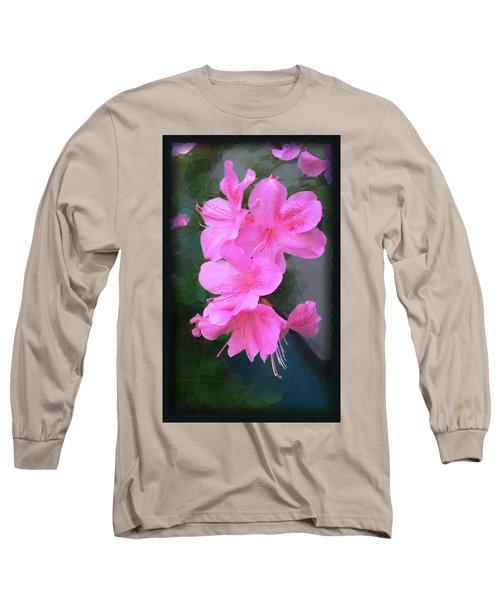 Azalea Spray Long Sleeve T-Shirt by Ginny Schmidt
