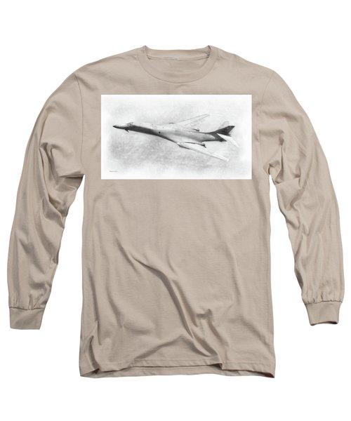 B-1b Lancer Long Sleeve T-Shirt by Douglas Castleman