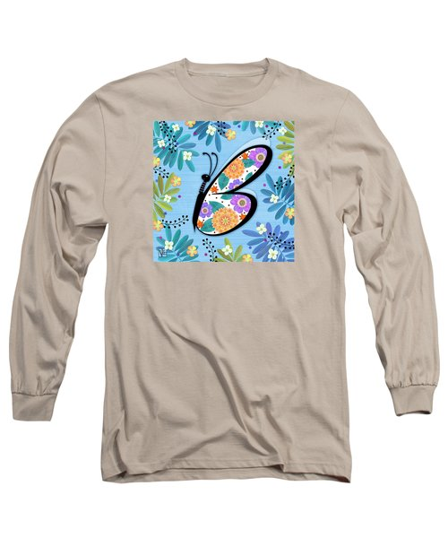 B Is For Butterfly Long Sleeve T-Shirt