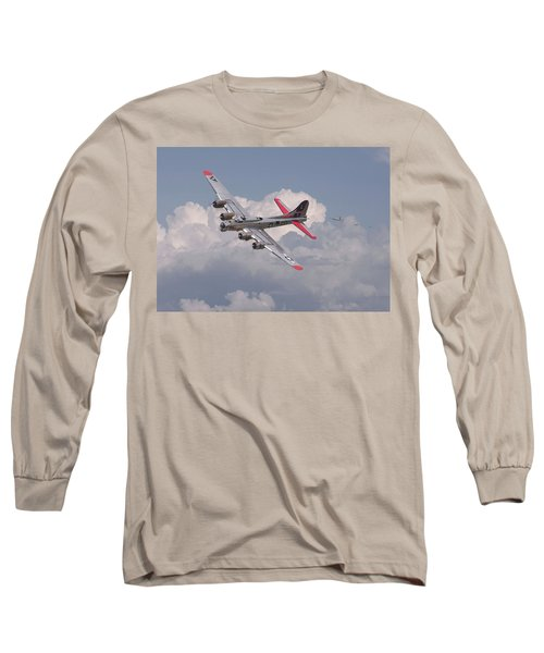 Long Sleeve T-Shirt featuring the photograph B17 - The Last Lap by Pat Speirs
