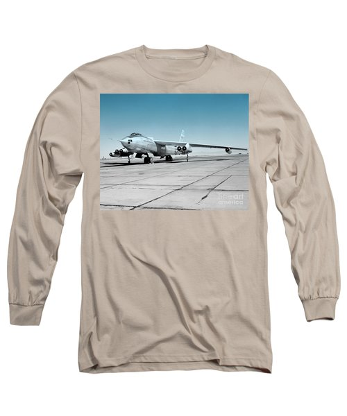 Long Sleeve T-Shirt featuring the photograph B47a Stratojet - 1 by Greg Moores