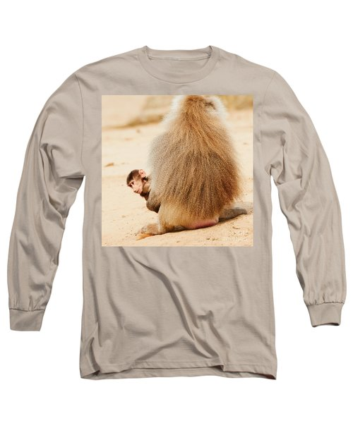 Baboon With A Baby  Long Sleeve T-Shirt