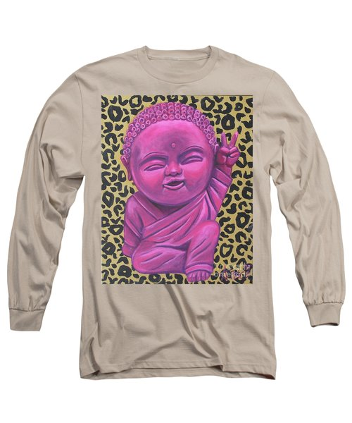 Long Sleeve T-Shirt featuring the painting Baby Buddha 2 by Ashley Price