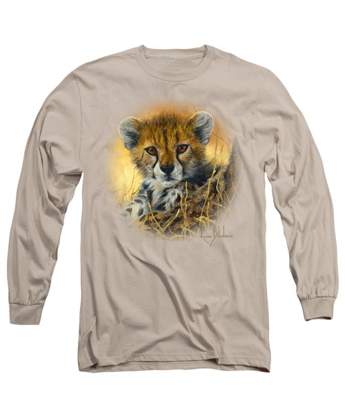 Baby Cheetah  Long Sleeve T-Shirt by Lucie Bilodeau