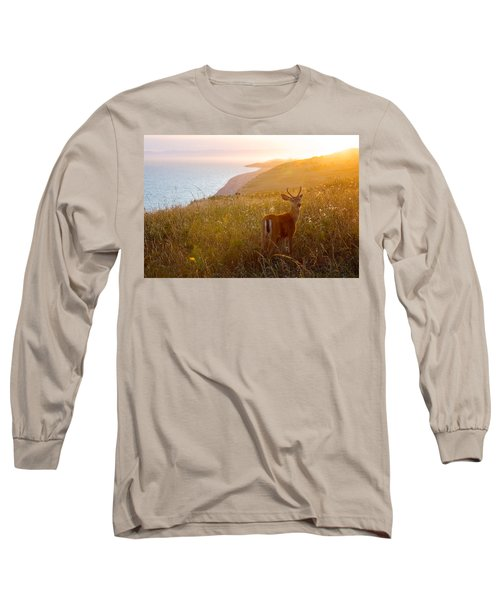 Baby Deer Long Sleeve T-Shirt by Evgeny Vasenev
