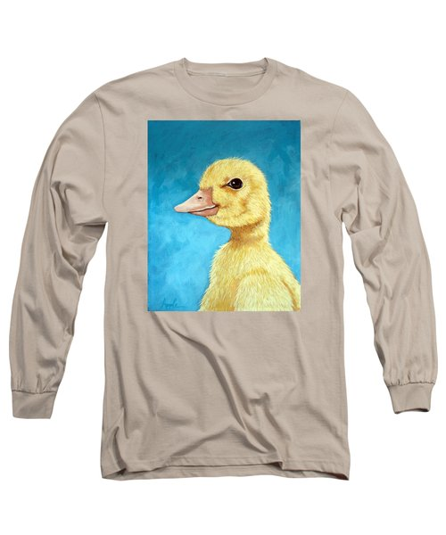 Baby Duck - Spring Duckling Long Sleeve T-Shirt by Linda Apple