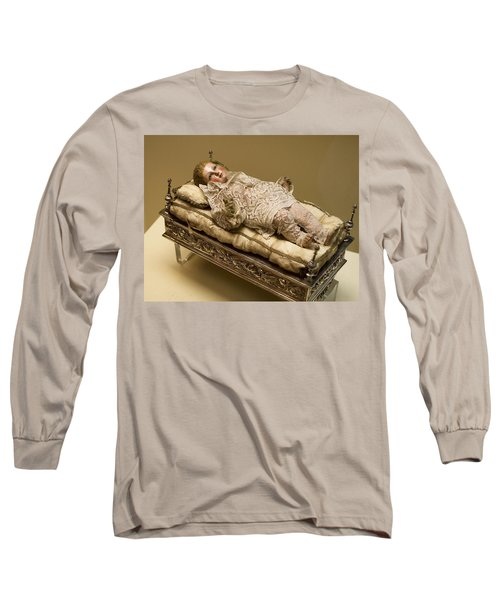 Long Sleeve T-Shirt featuring the photograph Baby Jesus In Lace by Lorraine Devon Wilke