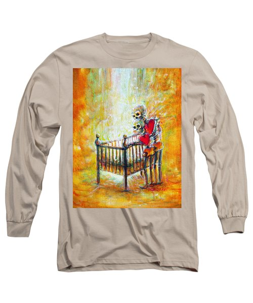 Long Sleeve T-Shirt featuring the painting Baby Love by Heather Calderon