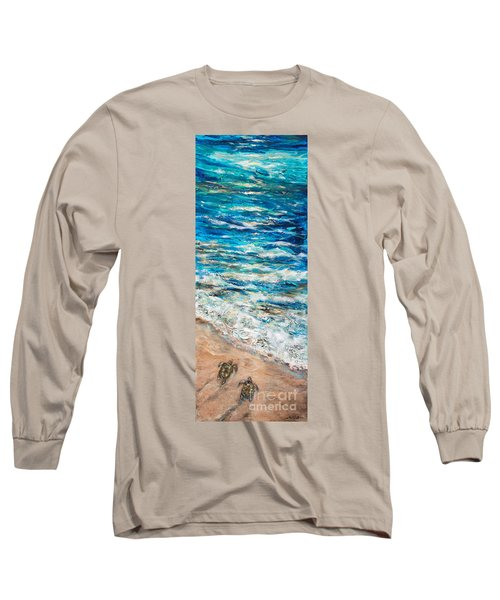 Baby Sea Turtles I Long Sleeve T-Shirt by Linda Olsen