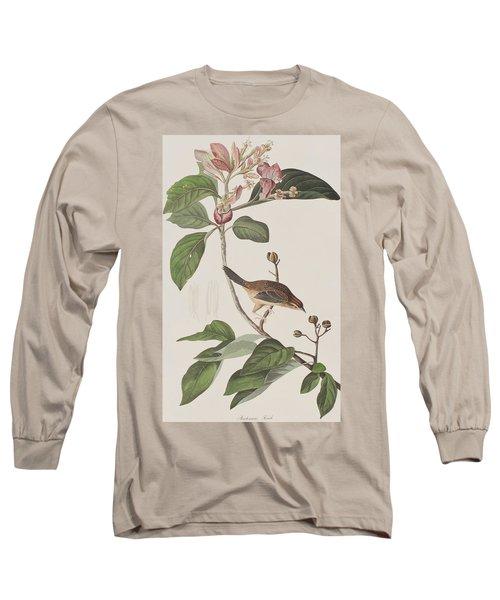Bachmans Sparrow Long Sleeve T-Shirt by John James Audubon