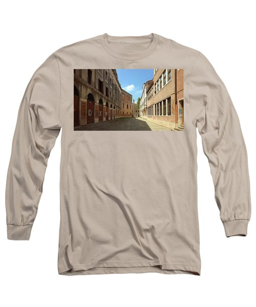 Long Sleeve T-Shirt featuring the photograph Back Street In Venice by Anne Kotan