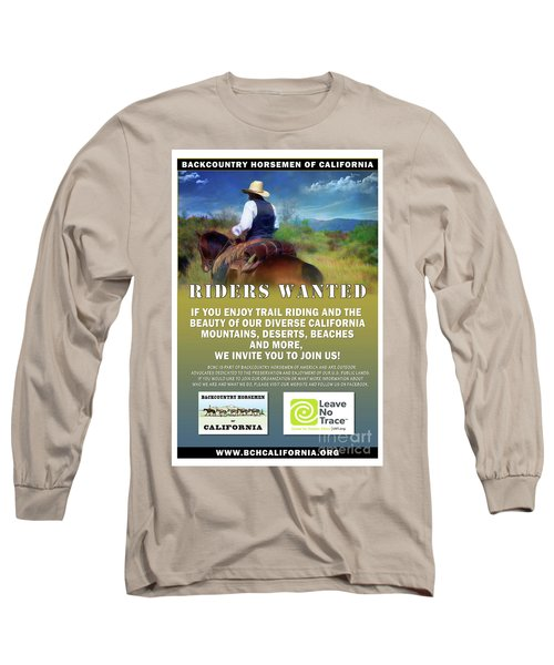 Backcountry Horsemen Join Us Poster Long Sleeve T-Shirt