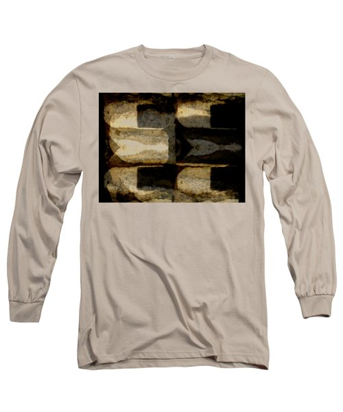 Colour Choice Stone Abstract Long Sleeve T-Shirt