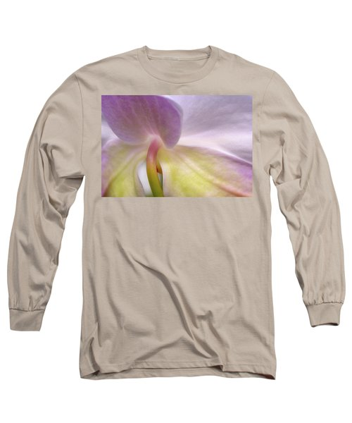Long Sleeve T-Shirt featuring the photograph Backlit Orchid by Michael Hubley