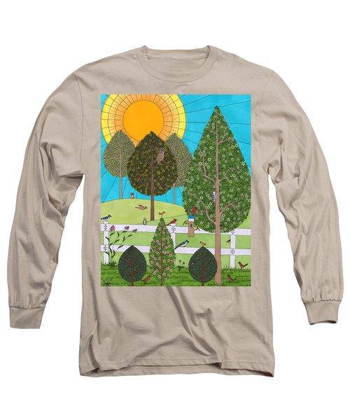 Backyard Gathering Long Sleeve T-Shirt