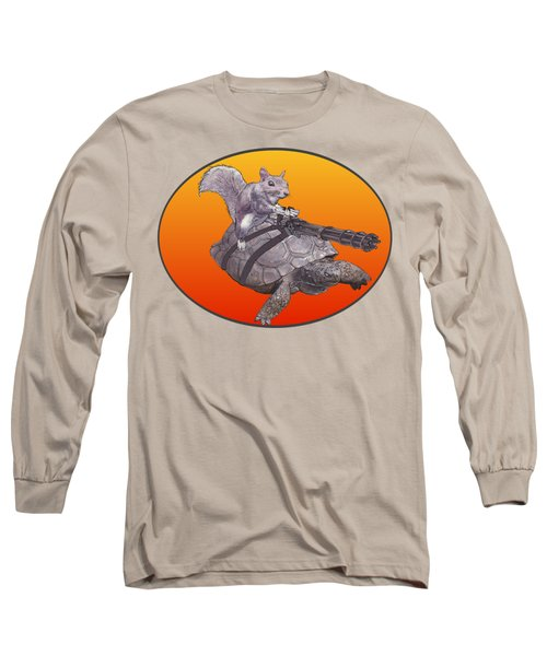 Backyard Modern Warfare Crazy Squirrel Long Sleeve T-Shirt