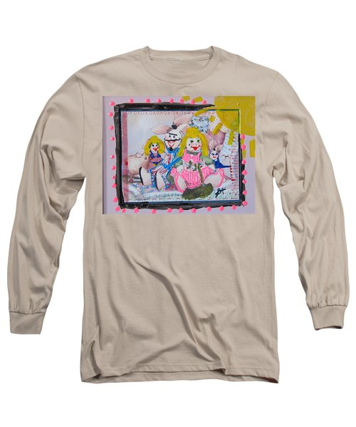 Long Sleeve T-Shirt featuring the painting Bad Bunnies by Lisa Piper