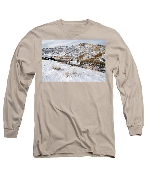 Badlands In Snow Long Sleeve T-Shirt