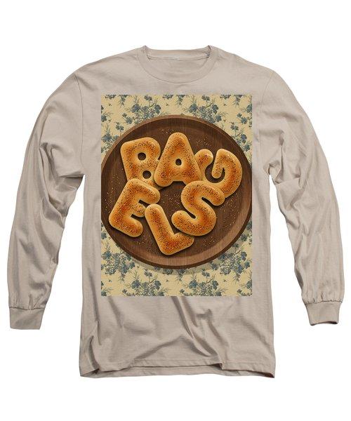 Bagels Long Sleeve T-Shirt by La Reve Design