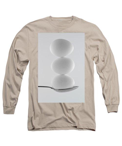 Balancing Eggs Long Sleeve T-Shirt