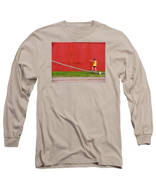 Balancing On Harbor Time Long Sleeve T-Shirt