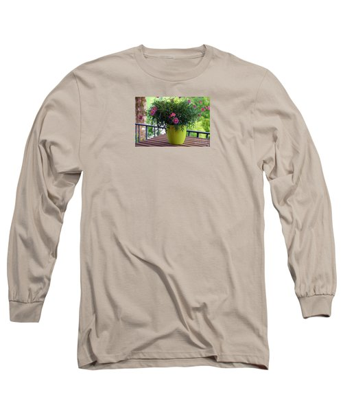 Long Sleeve T-Shirt featuring the photograph Balcony Flowers by Susanne Van Hulst