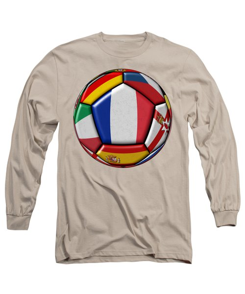 Ball With Flag Of France In The Center Long Sleeve T-Shirt
