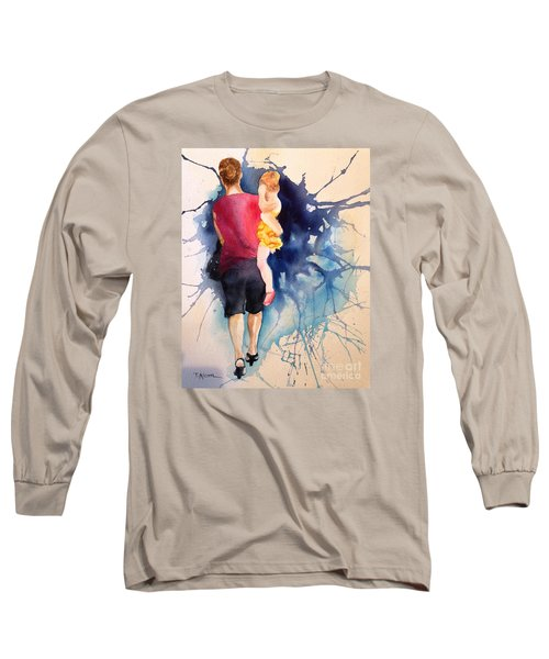 Long Sleeve T-Shirt featuring the painting Ballet Mum - Original Sold by Therese Alcorn