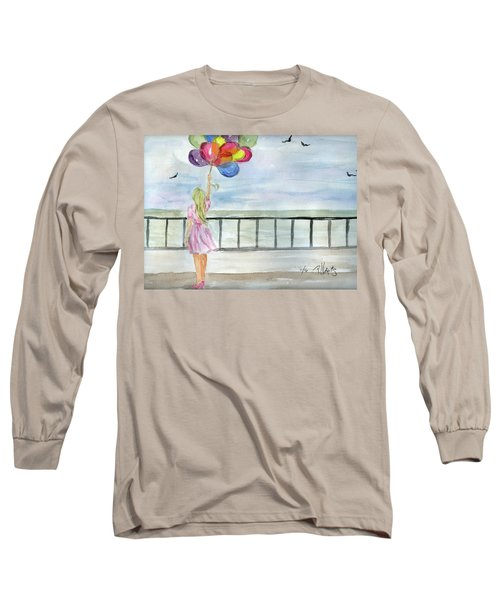 Baloons Long Sleeve T-Shirt by P J Lewis