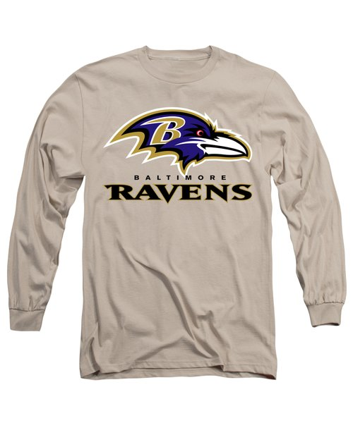 Baltimore Ravens On An Abraded Steel Texture Long Sleeve T-Shirt