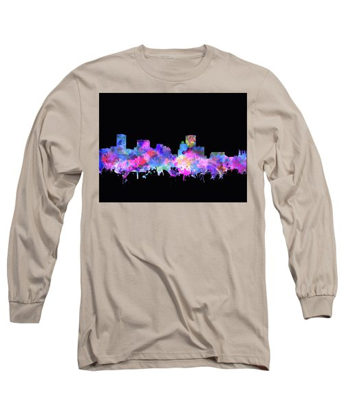Long Sleeve T-Shirt featuring the painting Baltimore Skyline Watercolor 5 by Bekim Art