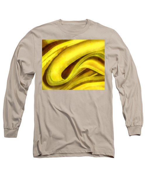 Banana With Chocolate Long Sleeve T-Shirt by Francesa Miller