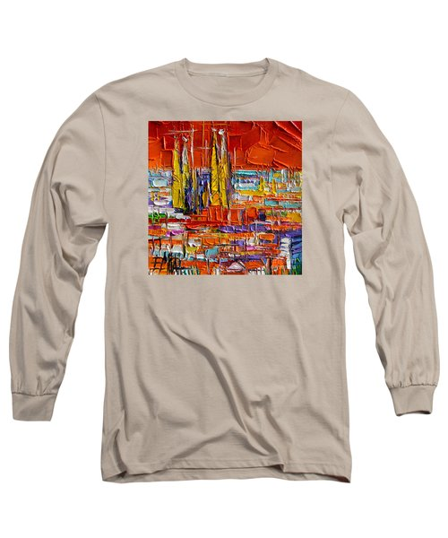 Barcelona View From Parc Guell - Abstract Miniature Long Sleeve T-Shirt