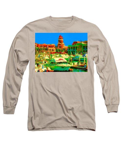 Barcos Cerca Paraiso Long Sleeve T-Shirt by Gerhardt Isringhaus