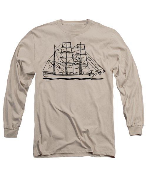 Bark Ship Long Sleeve T-Shirt