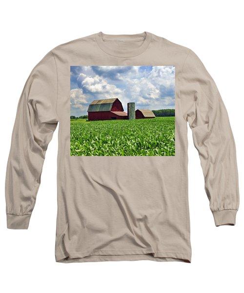 Barn In The Corn Long Sleeve T-Shirt