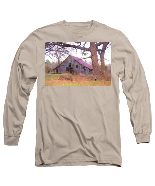 Long Sleeve T-Shirt featuring the photograph Barn In The Valley by Susan Crossman Buscho