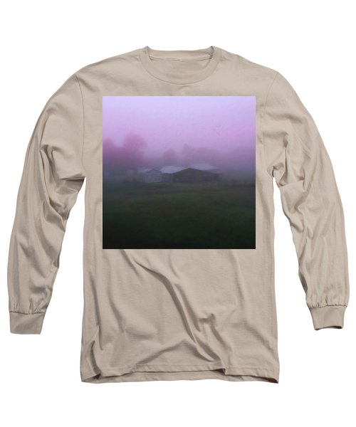 Barn On A Misty Morning Long Sleeve T-Shirt