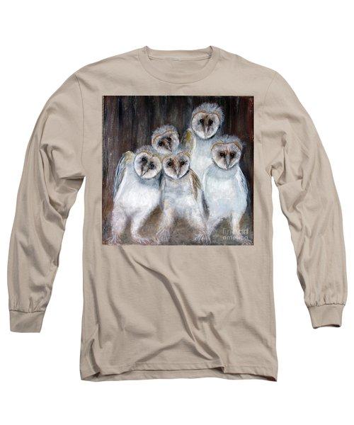 Barn Owl Chicks Long Sleeve T-Shirt