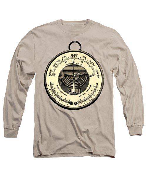 Barometer Vintage Tool Dictionary Art Long Sleeve T-Shirt