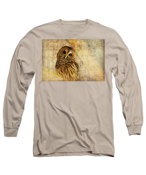 Barred Owl Long Sleeve T-Shirt by Lois Bryan