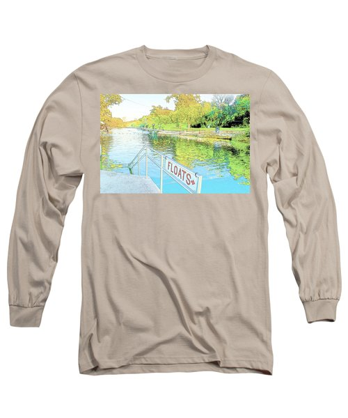 Barton Springs Sketch Long Sleeve T-Shirt