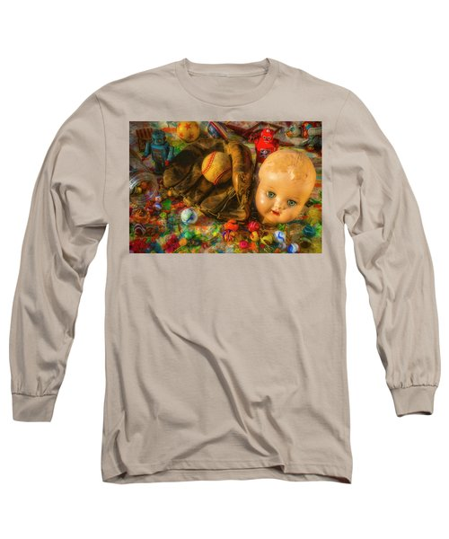 Baseball Glove And Dolls Head Long Sleeve T-Shirt