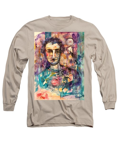 Baseball Player Long Sleeve T-Shirt by Ellen Anthony